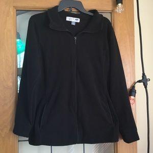 Maternity fleece zip sweatshirt